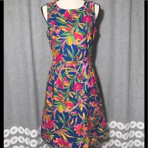 J Crew Below Knee Cotton Floral Dress size 6